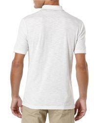 Perry Ellis | White Slub Stripe Polo Shirt for Men | Lyst