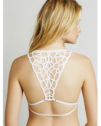 Free People - White Colliding Crystals Bra - Lyst
