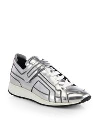 Pierre Hardy | Metallic Patent Leather Laceup Sneakers for Men | Lyst