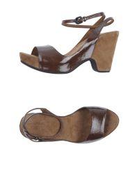 Roberto Del Carlo - Natural Platform Sandals - Lyst