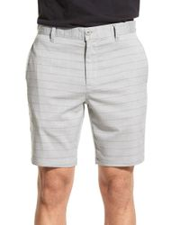 RVCA - Gray 'backwater' Shorts for Men - Lyst