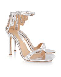 Chelsea Paris Asha Cutout Metallic Leather Sandals