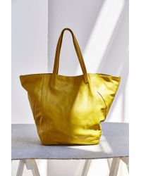 BDG | Yellow Seams Leather Tote Bag | Lyst