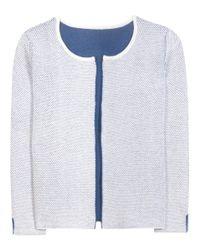 81hours White Loop Wool Cardigan
