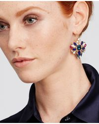 Ann Taylor | Metallic Scattered Stone Statement Earrings | Lyst