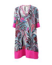 Emilio Pucci | Pink Contrast Hem Dress | Lyst