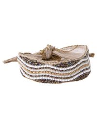 Chan Luu - White Beaded Embroidered Chiffon Bracelet - Lyst