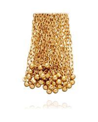 Solange Azagury-Partridge Metallic Tassle Earrings