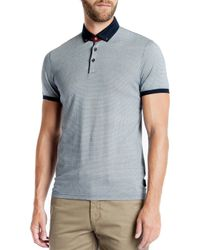 Ted Baker - Blue Chapmun Geo Slim Fit Polo for Men - Lyst