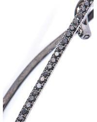 Elise Dray - Metallic Diamond & Black-Gold Single Maxi-Bar Earring - Lyst