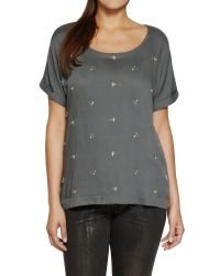 Sandwich - Gray Embellished Top - Lyst