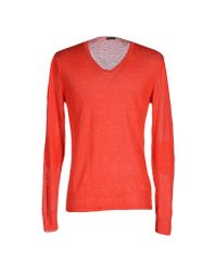 Paolo Pecora | Red Jumper for Men | Lyst