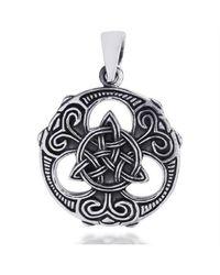 Aeravida - Metallic Celtic Knots Vector Balance .925 Sterling Silver Pendant - Lyst
