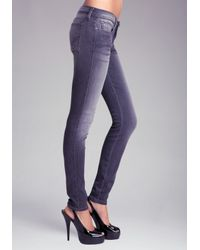 Bebe Gray Signature Stretch Skinny Jean