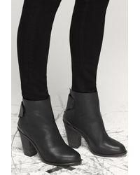 Rag & Bone Black Leather Ankle Kerr Booties