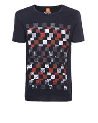 BOSS Orange | Blue T-shirt 'tiberion' In Cotton for Men | Lyst