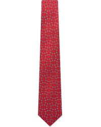 Charvet - Red Jacquard Pattern Silk Tie for Men - Lyst