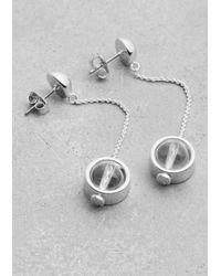 & Other Stories | Metallic Globe Pendant Earrings | Lyst