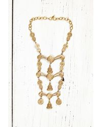 Free People | Metallic Vintage Gold Ladder Necklace | Lyst