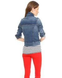 7 For All Mankind - Blue Classic Denim Jacket - Absolute Heritage 4 - Lyst