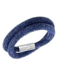 Swarovski | Blue Stardust Crystal Wrap Bracelet | Lyst