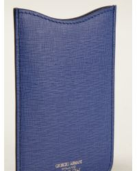 Giorgio Armani | Blue Classic Phone Case | Lyst
