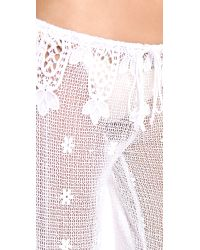Miguelina White Jemma Cover Up Pants