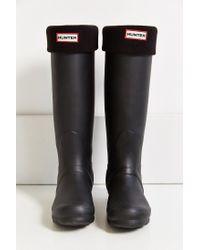 HUNTER - Black Tall Boot Sock - Lyst