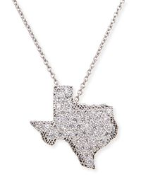 Roberto Coin | 18K White Gold Diamond Texas Necklace | Lyst