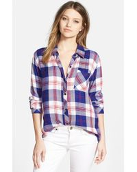 Rails Blue 'Hunter' Plaid Shirt