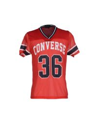 Converse CONS - Red T-shirt for Men - Lyst