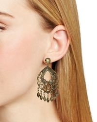 Sorrelli - Metallic Open Filigree Fringe Statement Earrings - Lyst