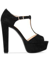 Jessica Simpson | Black Adelinah T-strap Platform Sandals | Lyst