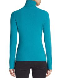 Lord & Taylor - Blue Petite Cashmere Turtleneck Sweater - Lyst