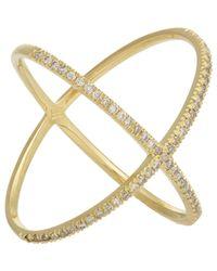 Eva Fehren Metallic Women's X Ring