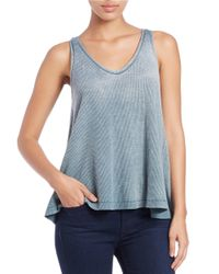 Free People - Gray Kitten Hi-lo Tank Top - Lyst