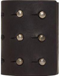 Rick Owens | Black Leather and Bone Lou Bracelet | Lyst