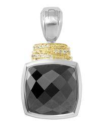 Lagos - Metallic Noir Framed Spinel Diamond-detail Enhancer - Lyst