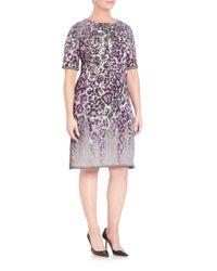 Stizzoli - Purple Knit Animal-print Dress - Lyst