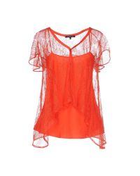 Patrizia Pepe - Red Shirt - Lyst