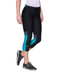 Under Armour | Blue Performance Capris | Lyst