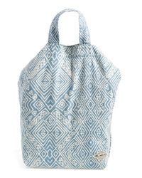 Billabong - Blue 'trust The Timing' Canvas Tote - Lyst