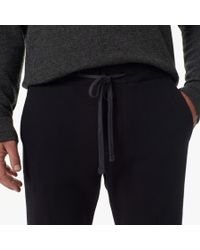 James Perse | Black Cotton Blend Pant for Men | Lyst