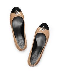 Tory Burch Brown Patent Leather Kaitlin Pump