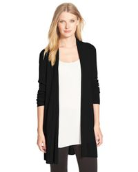 Eileen Fisher | Black Straight Cut Cardigan | Lyst