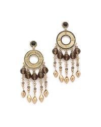 House of Harlow 1960 - Metallic Cuzco Chandelier Earrings - Gold/smokey Grey - Lyst