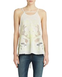 Free People | White First Glance Embroidered Mesh Inset Tunic | Lyst