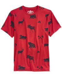 American Rag | Red Critter Camp T-shirt for Men | Lyst