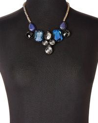 Nakamol - Blue Crystal Statement Necklace - Lyst