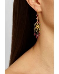 Munnu - Pink 22-Karat Gold Tourmaline Earrings - Lyst